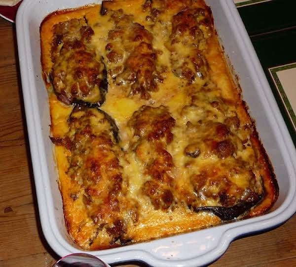 Melitzanes Papoutsakia (greek Stuffed Eggplant) Recipe
