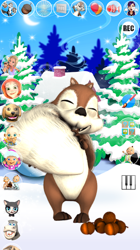 Talking Squirrel Frozen Forest apkmind screenshots 2