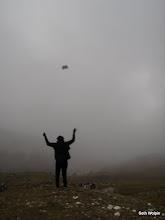 Photo: Flying high near Lobuche