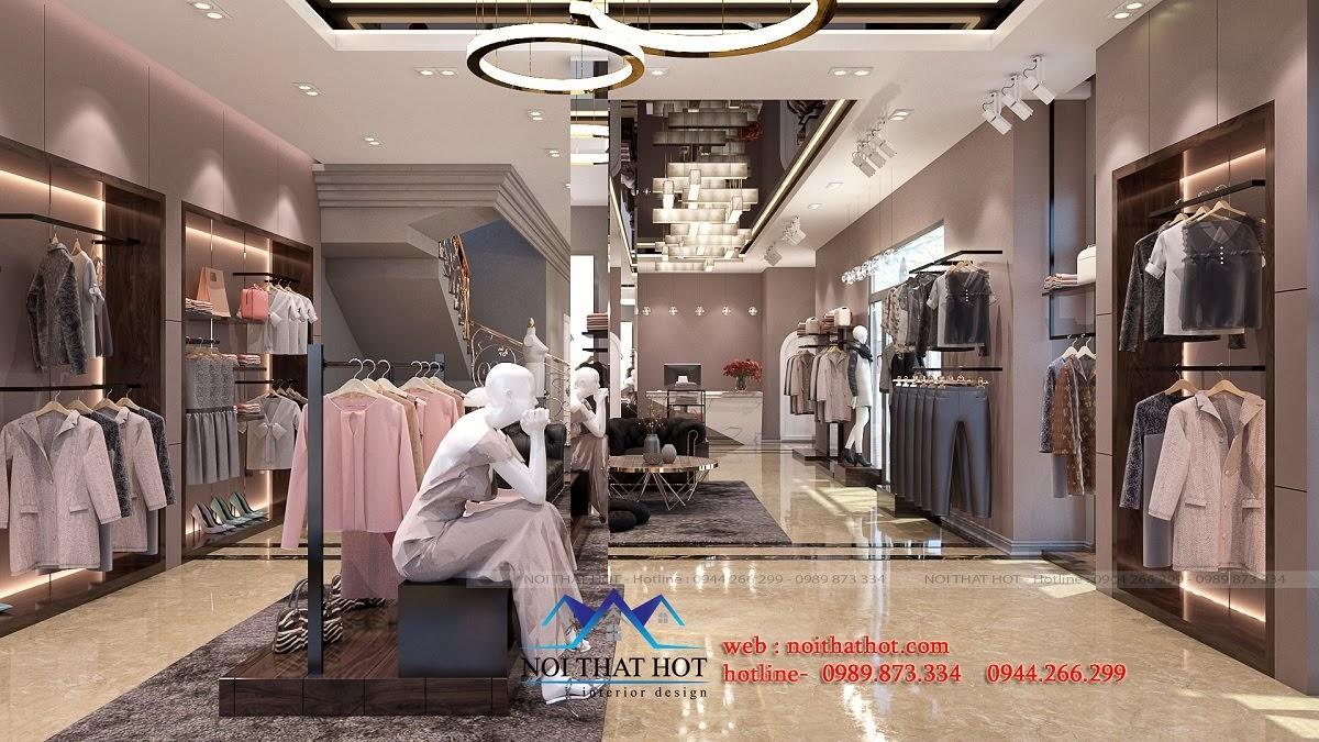 thiết kế shop thời trang sang trọng 1