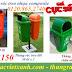 Thùng rác 50L, thùng rác treo 55L, thùng rác nhựa composite giá siêu rẻ call 0984423150 – Huyền