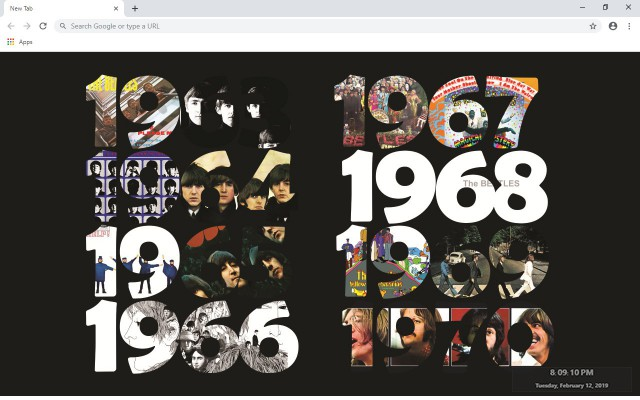 The Beatles New Tab & Wallpapers Collection