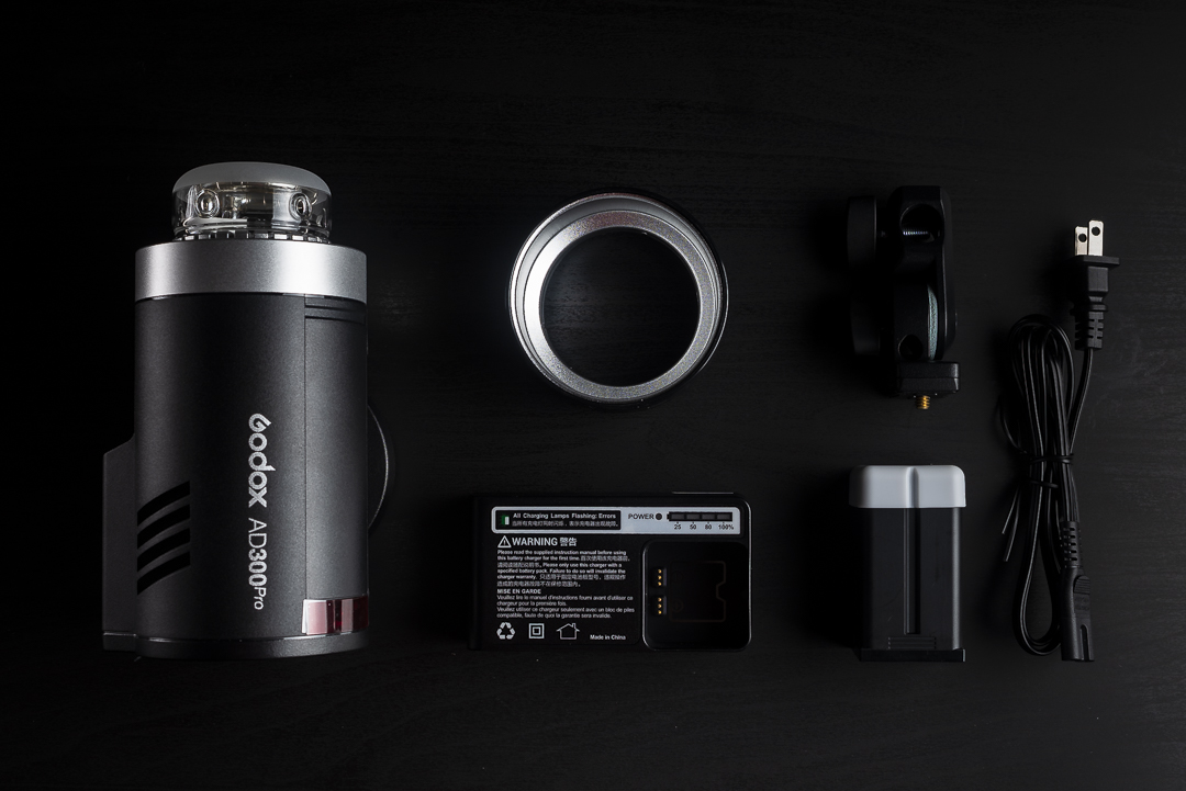 Flatlay Godox AD300 Pro