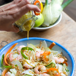 Fennel & Prawn Salad with Parmesan and Apple