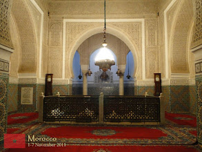 Photo: a closer look at the tomb of Moulay Ismaïl