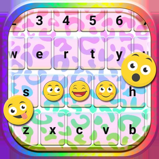 Rainbow Cheetah Keyboard