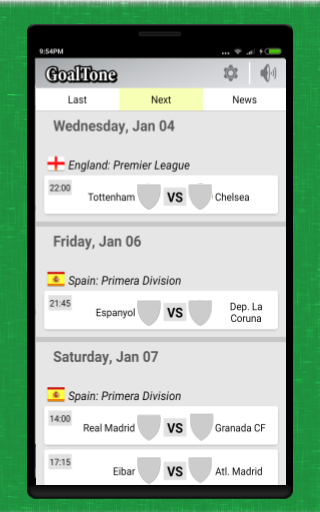 Football Livescores - GoalTone- screenshot