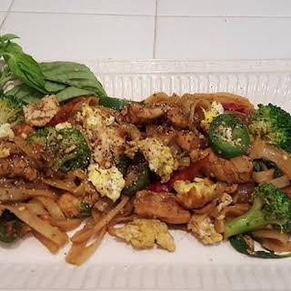 Thai Drunken Noodles.