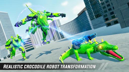 Crocodile Car Robot Simulator: Robot Endless War apktram screenshots 5