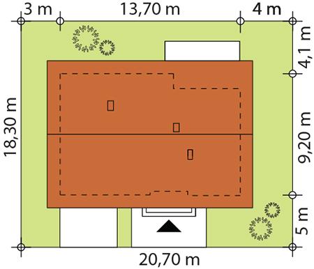 Gaja 2 drewniana - Sytuacja