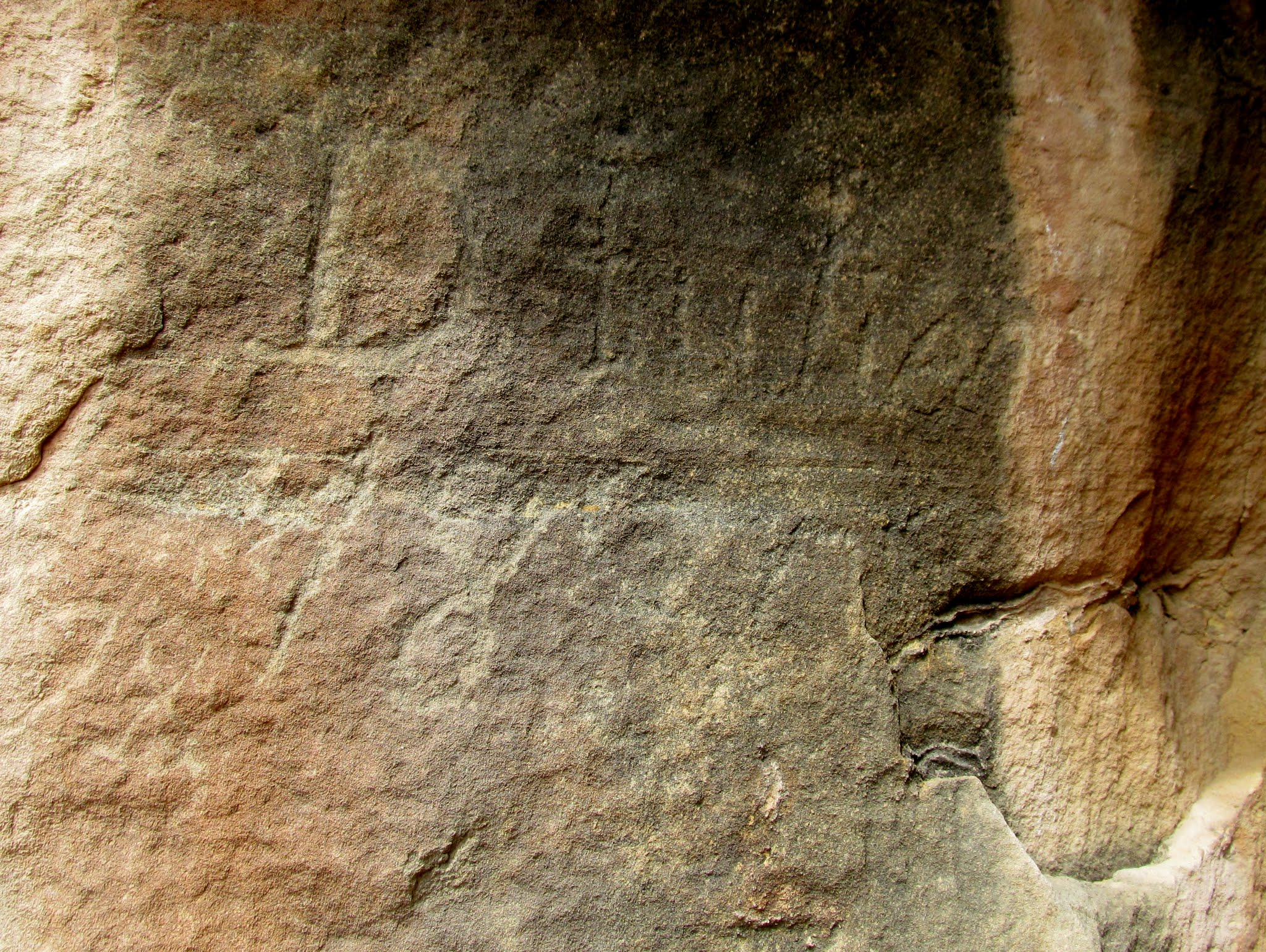 Photo: The oldest known Denis Julien inscription:  D. Julien 1830