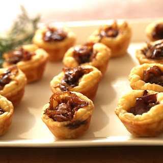Goat Cheese Tartelettes with Caramelized Onions