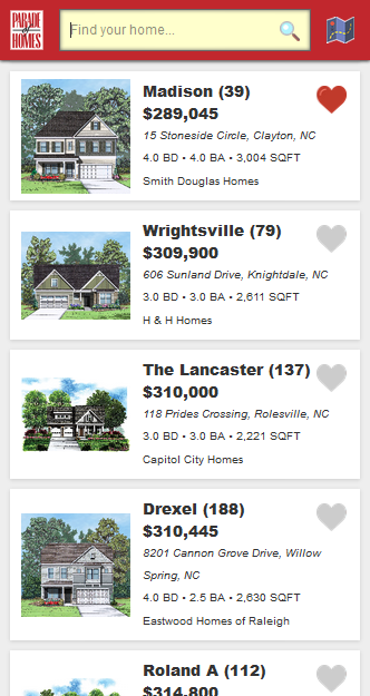 Triangle Parade of Homes- screenshot