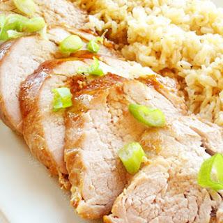 Roast Pork Tenderloin with Asian Glaze.