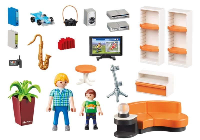 Contenido real de Playmobil® 9267 Salón