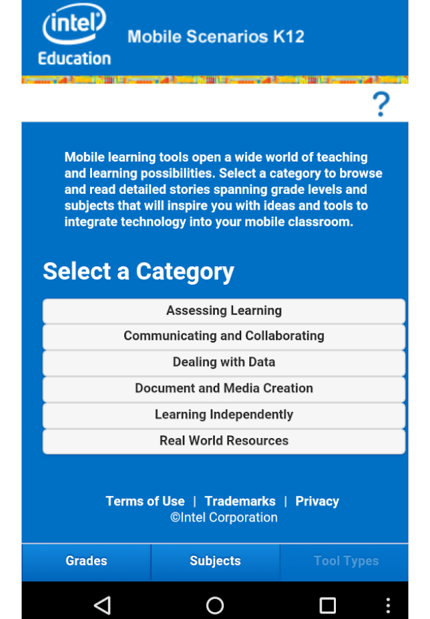 Mobile Scenarios for K-12- screenshot