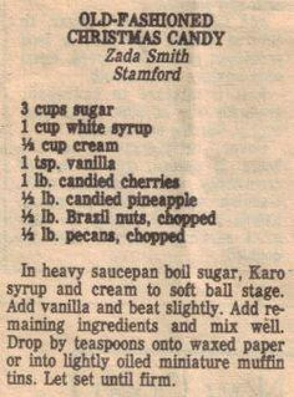Old Fashioned Christmas Candy Recipe