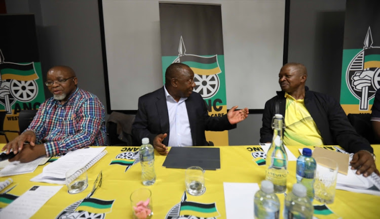 ANC leaders: Gwede Mantashe, President Cyril Ramaphosa and his deputy David Mabuza. File photo.