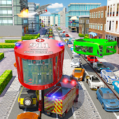 Fire Rescue Gyroscopic Bus: City Ambulance Driver
