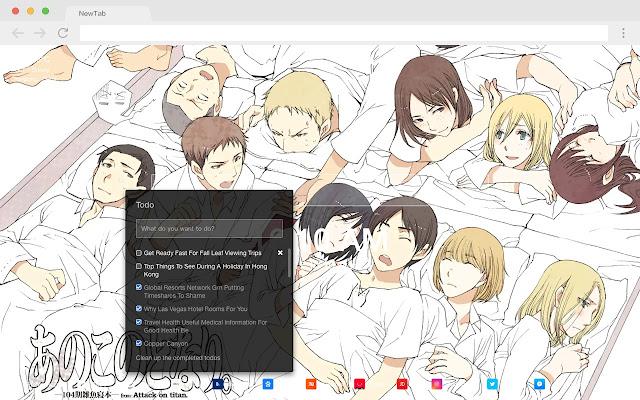 Sasha Blouse Pop HD Anime New Tab Page Theme