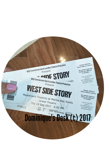 Our tickets to the preview of West Side Story