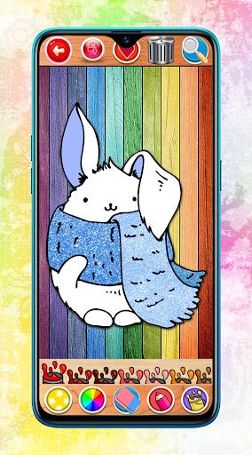 Kawaii Coloring Book Glitter screenshot 1