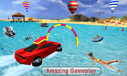 Water Surfer car Floating Beach Drive apkpoly screenshots 3
