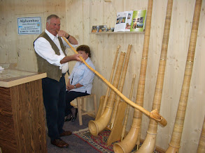 Photo: Some nice examle of a very personal alphorn!