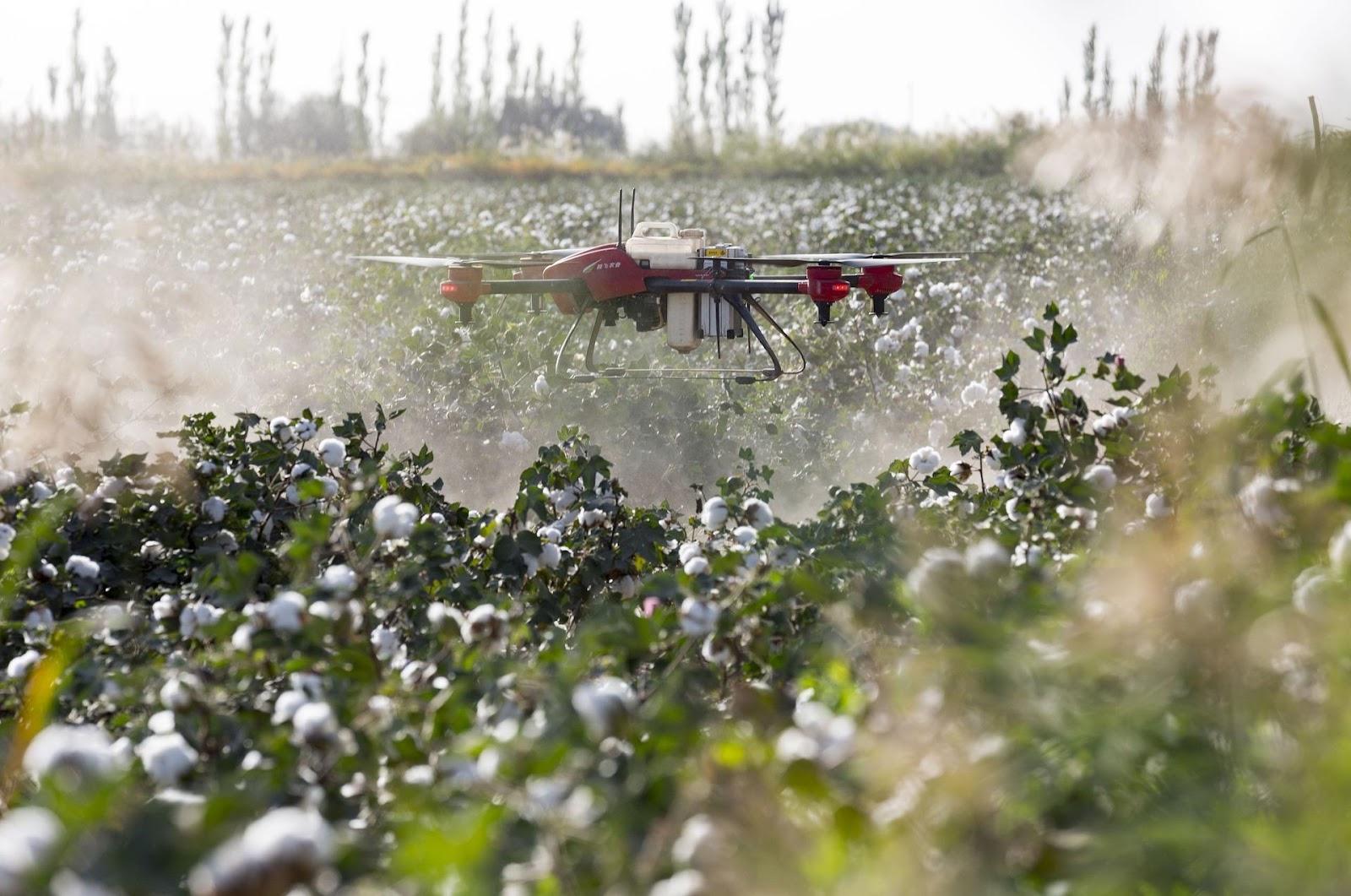 Dron pulverizador como innovación agrícola en uso de químicos.
