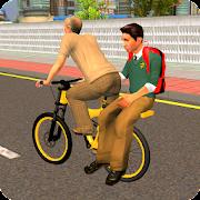 Virtual Grandpa: School Kids Bicycle Transport Fun