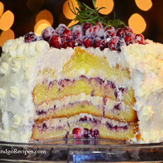Cranberry Vanilla Cream Cake.