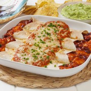 Cheesy Chicken And Jalapeno Enchiladas