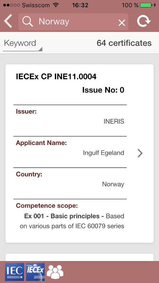 IECEx Personnel Certificates- screenshot