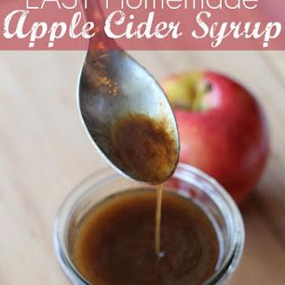 Homemade Apple Cider Syrup.