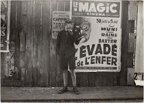 jongen voor een affiche van een film