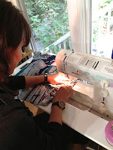 Photo: learning how to sew with saori yardage