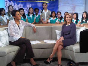 Photo: On the set of Good Morning America with Robin Roberts and the Troop 3441 from NYC!
