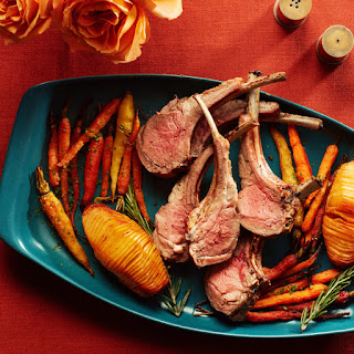Rosemary Rack of Lamb With Roasted Potatoes and Carrots for Two