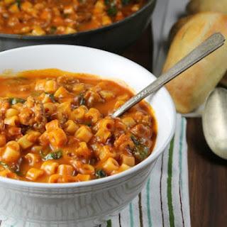 Italian Sausage Pasta Soup.