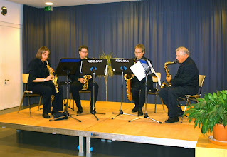 Photo: 2012 - SAX MEETS BRASS in Friedberg Petra, Mathias, Udo, Helge