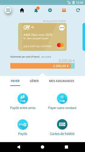 Ma Carte CA Android App Screenshot