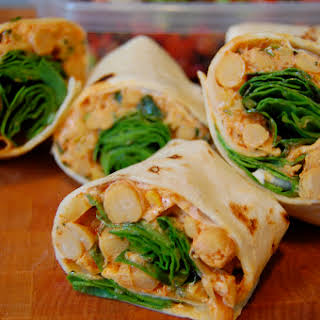 Spiced Chickpea and Squash Wraps.