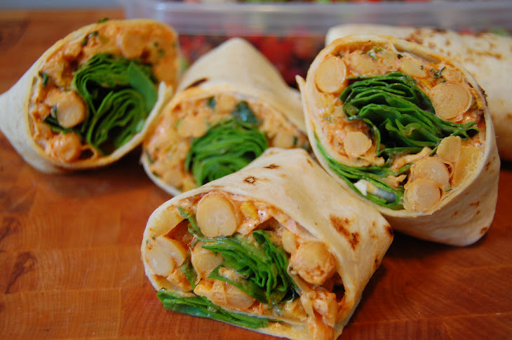 Spiced Chickpea and Squash Wraps