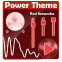 Red fireworks Poweramp Skin icon