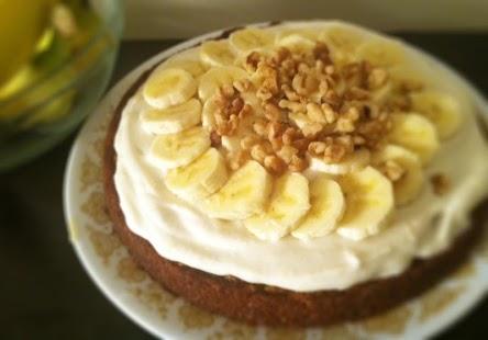 Торт банановый с грецкими орехами фоторецепт