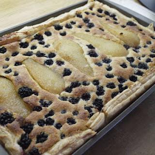 Pear and Blackberry Frangipane Tart