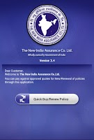 Screenshot of New India Customer