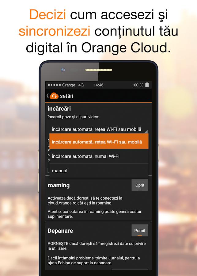 Orange Cloud - screenshot