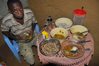 Photo: dinner ...antelope with peanuts and fufu