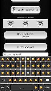 Black and White Keyboard screenshot 1